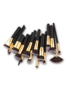 Fan Shaped Professional Makeup Brush 17pcs