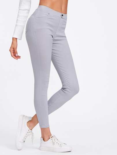 Pale Grey Leggings Jeans