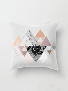Geometric Print Pillowcase Cover