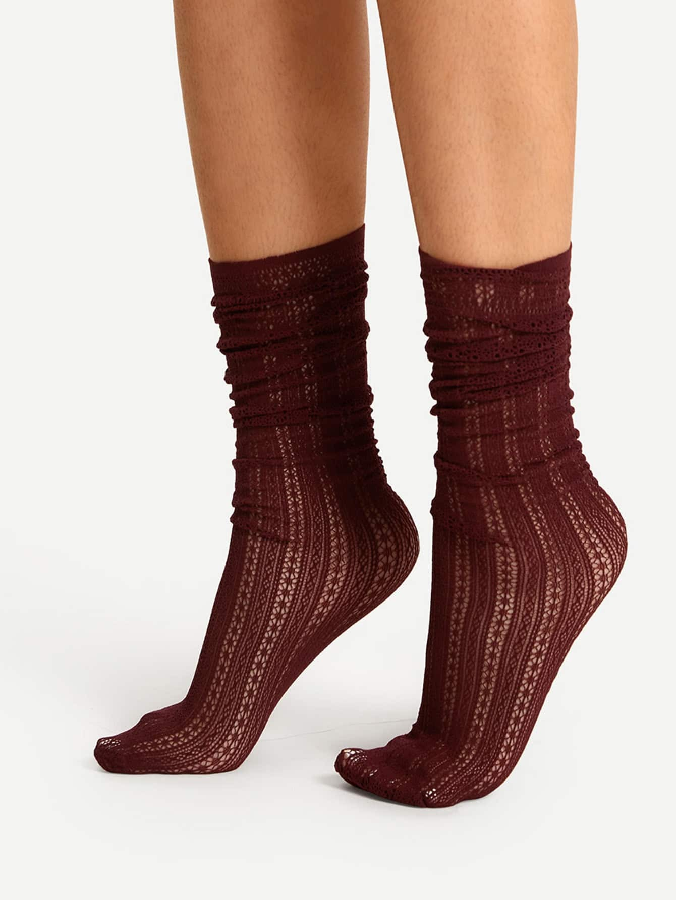 Cut Out Calf Length Socks