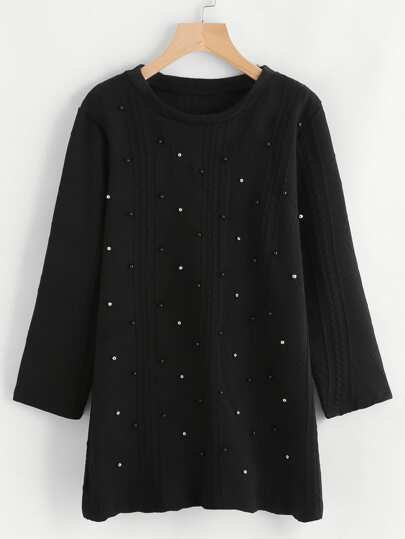 Studded Detail Sweater