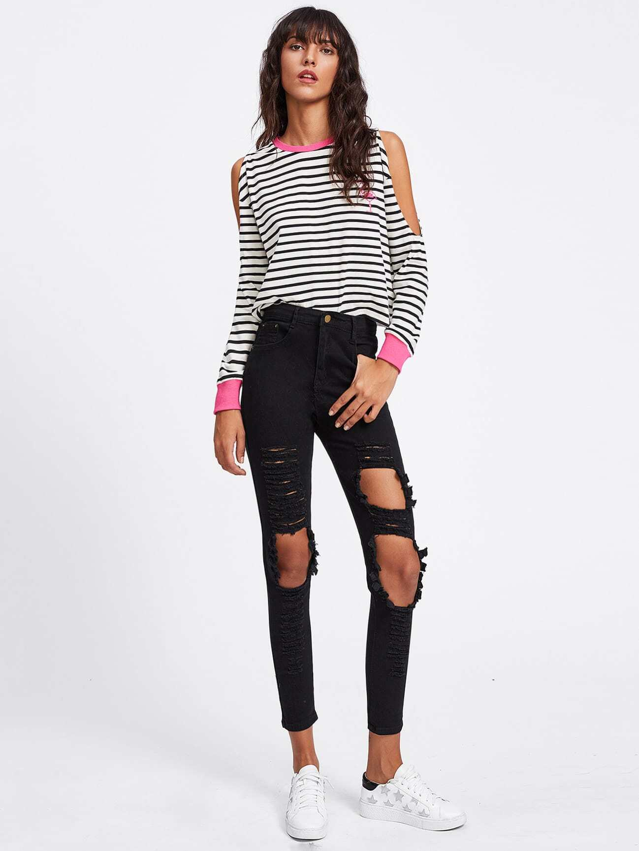 Extreme Distressing Skinny Jeans