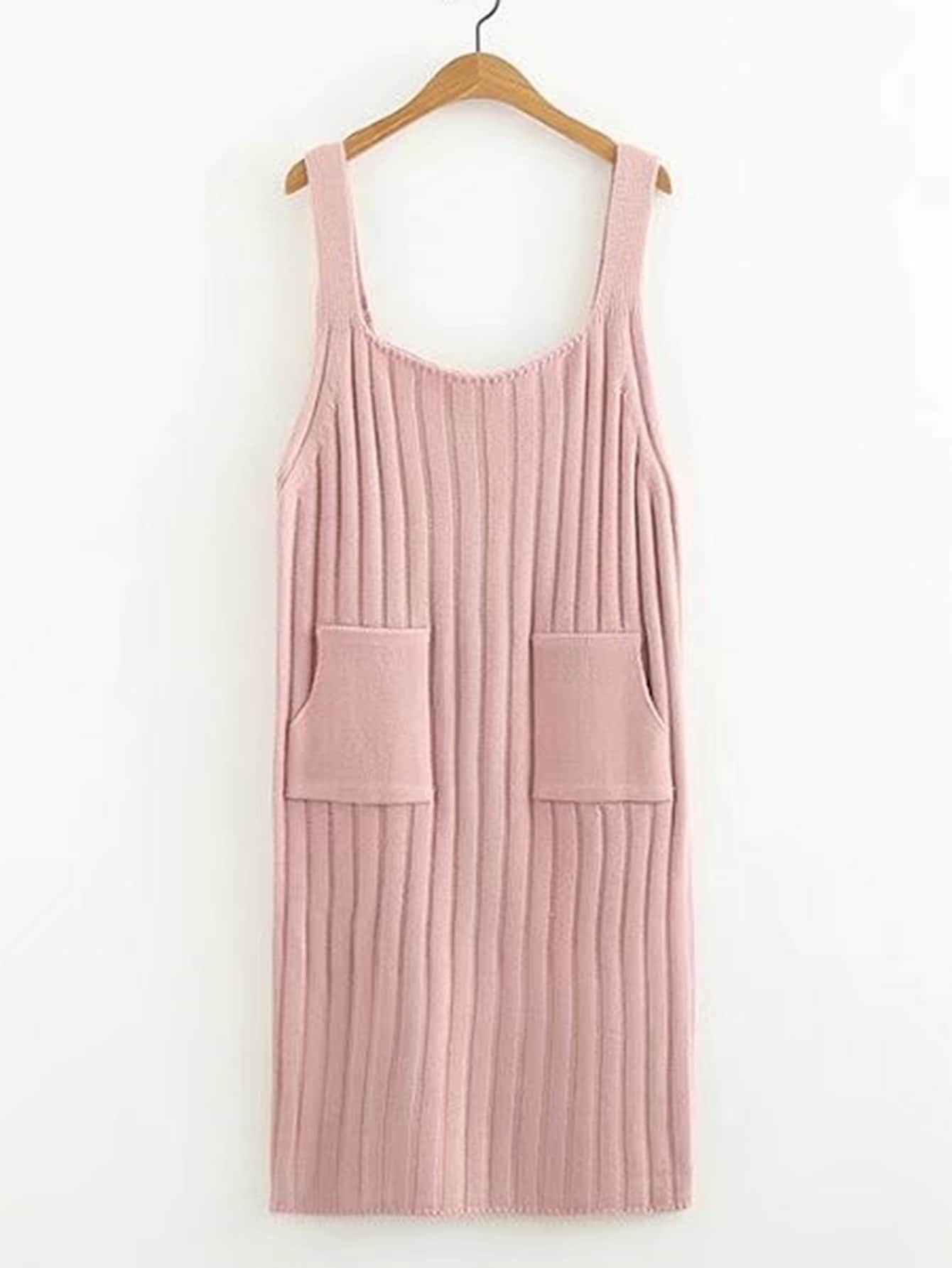 Wide Strap Ribbed Knit Dress rdre170922204