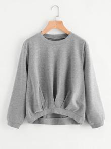 Sweat-shirt avec des plis