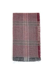 Plaid Schal mit aufgefranstem Saum