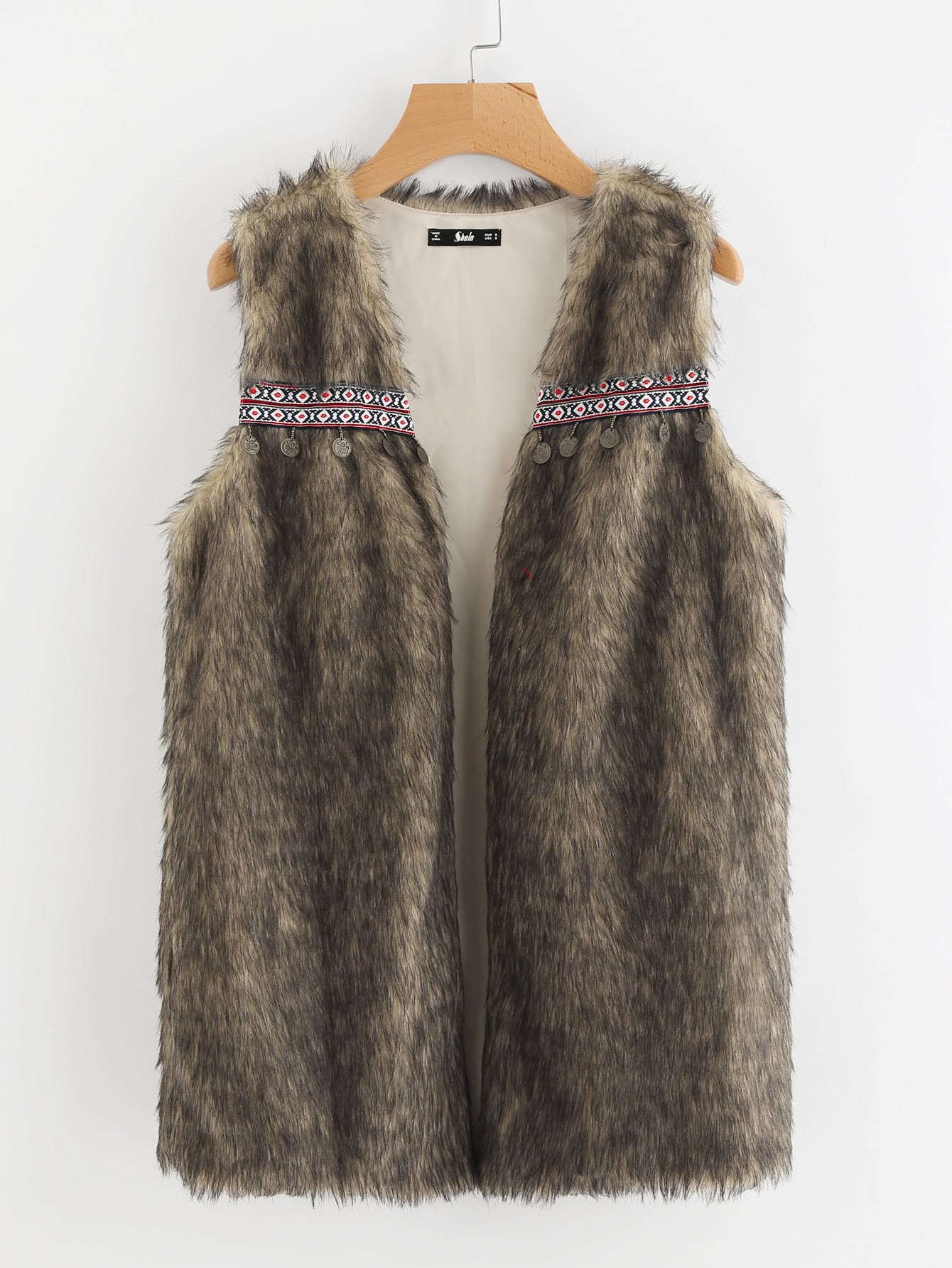 Coin Fringe And Embroidery Tape Detail Faux Fur Vest john o brien the review of contemporary fiction – novelist as critic 8–3