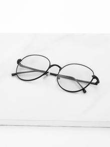 Модные прозрачные очки с металлической оправой