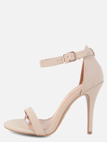 Single Sole Open Toe Heels NUDE