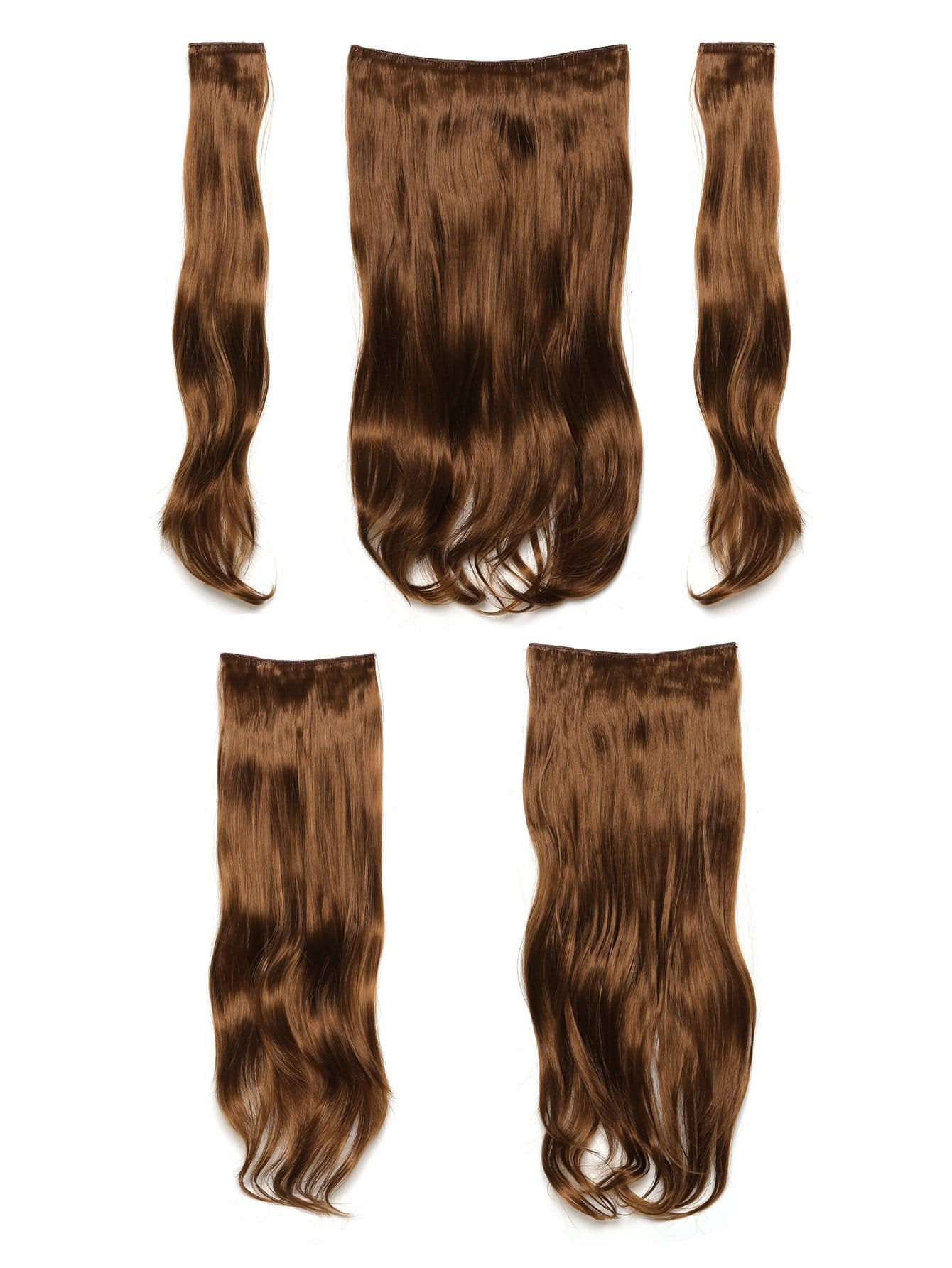 Golden Brown Clip In Soft Wave Hair Extension 5pcs jet black clip in soft wave hair extension 5pcs
