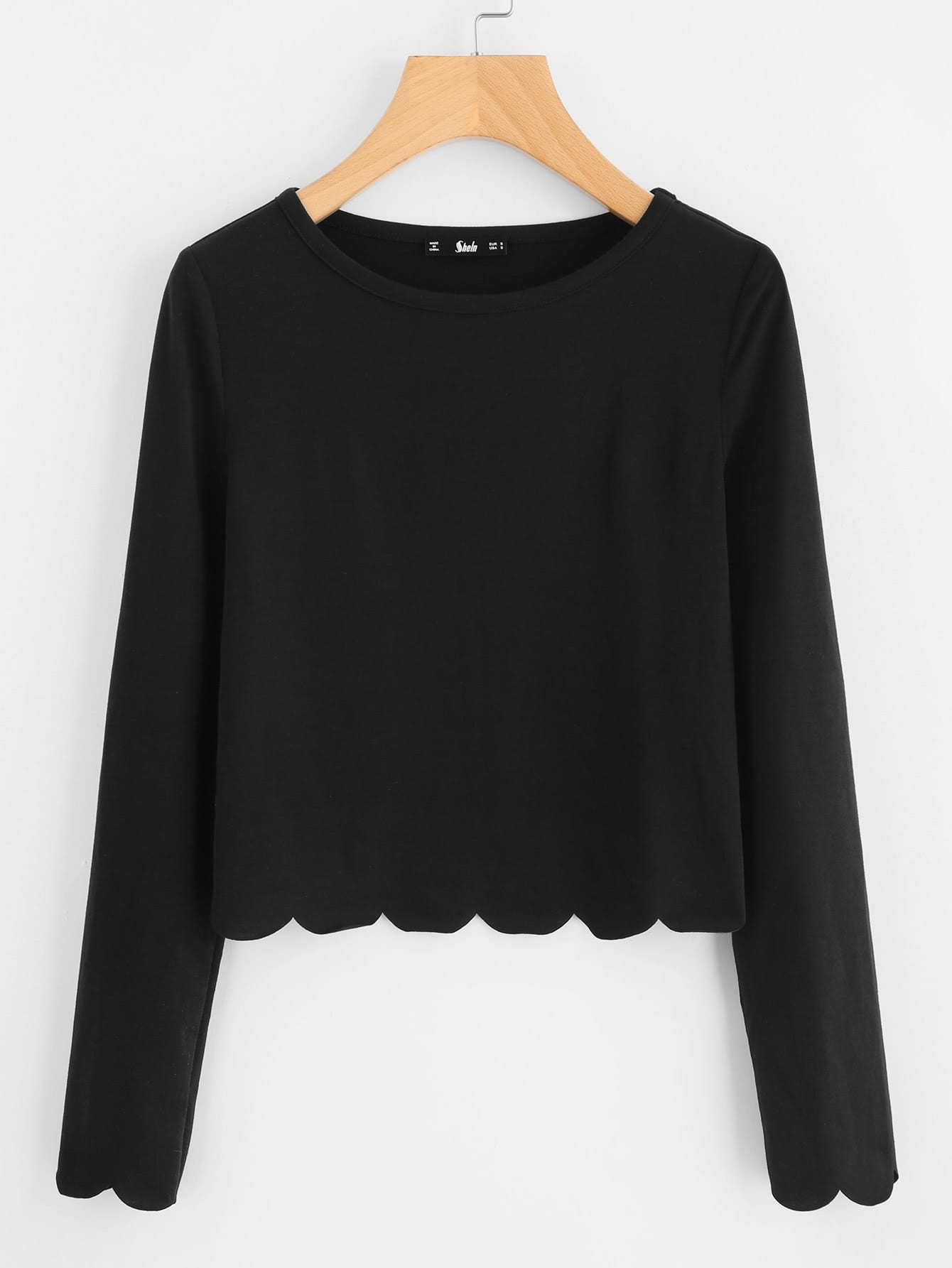 Scallop Hem Crop Top