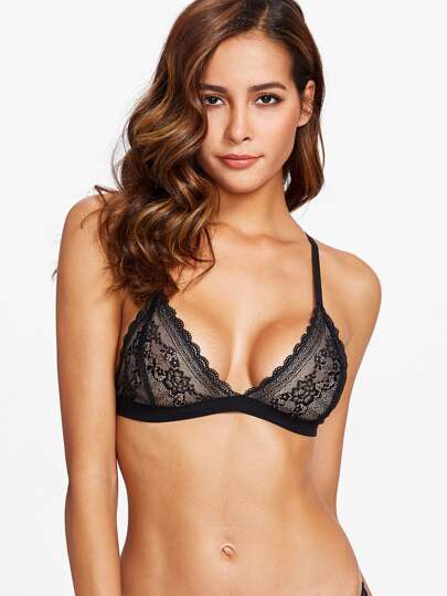 Scallop Trim Lace Bralette