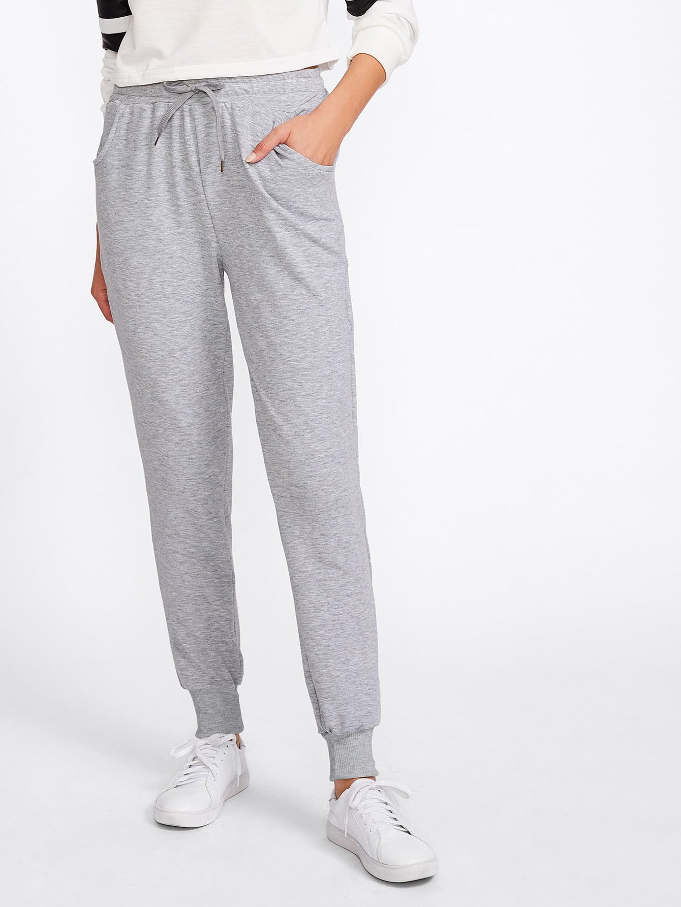 Image of Marled Track Pants