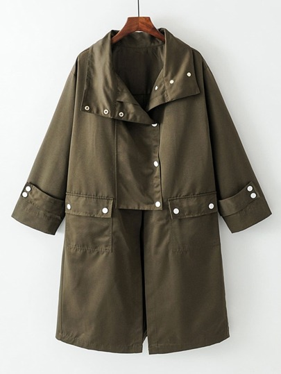 Button Detail Boyfriend Coat