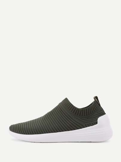 Knit Design Low Top Sneakers