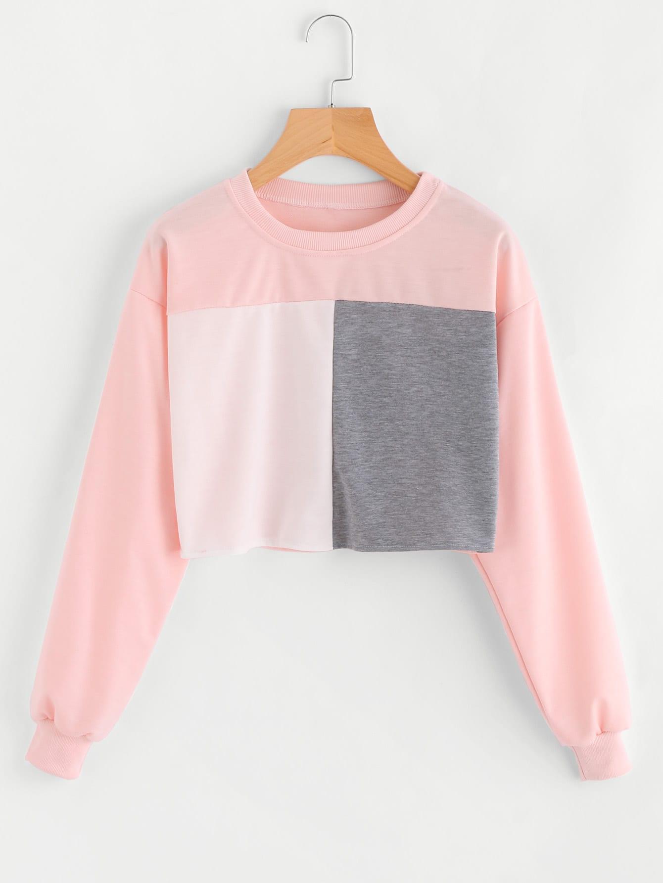 все цены на Color Block Sweatshirt