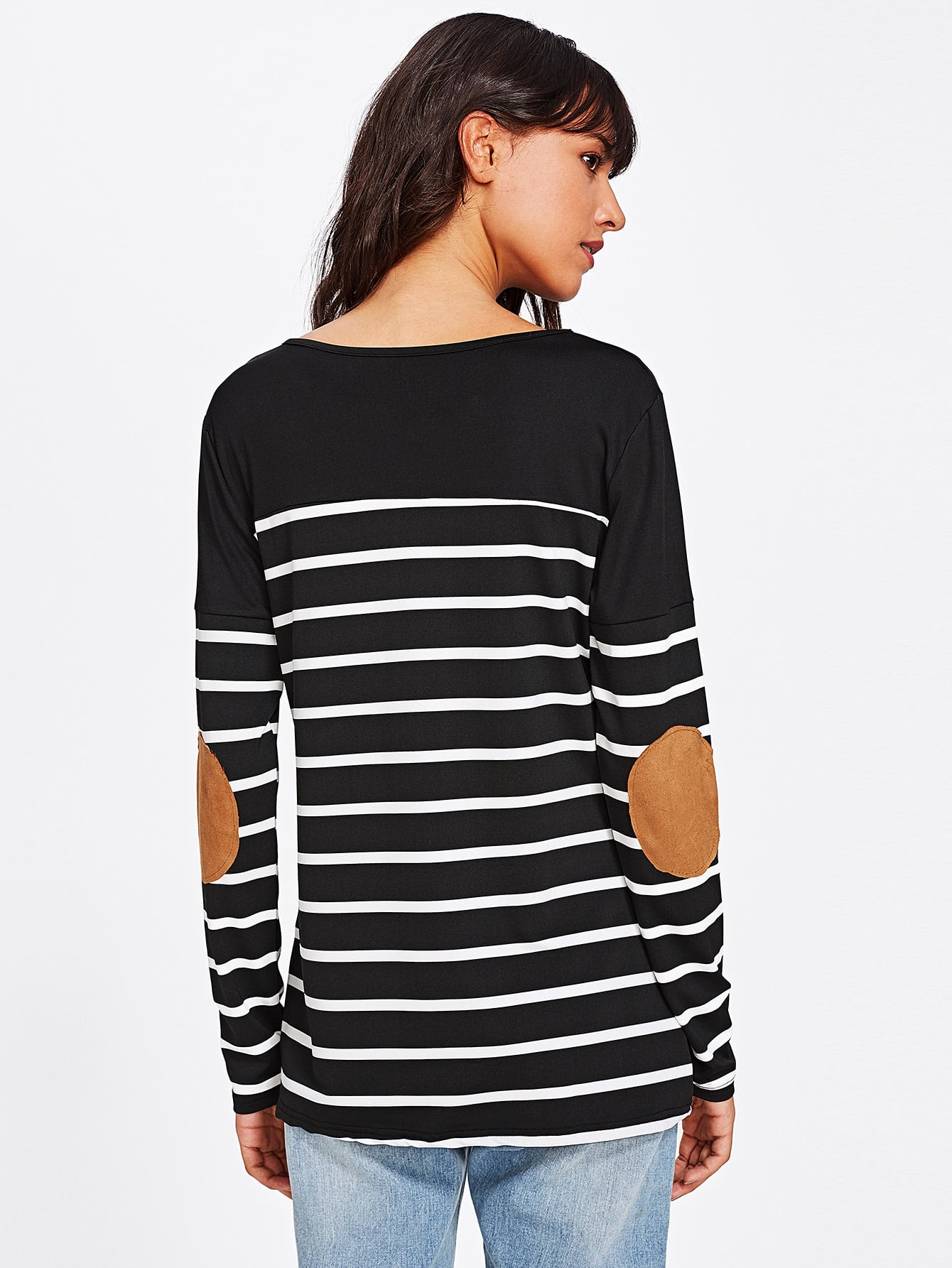 Elbow Patch Striped Tee