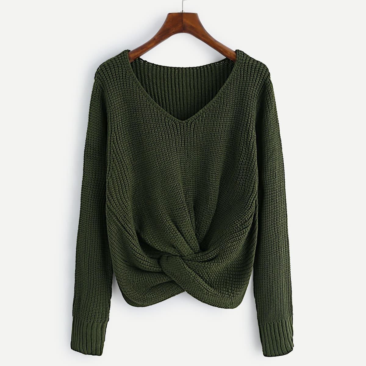 Kaki groen knitwear
