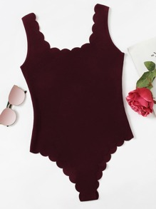 Scallop Trim Tank Bodysuit