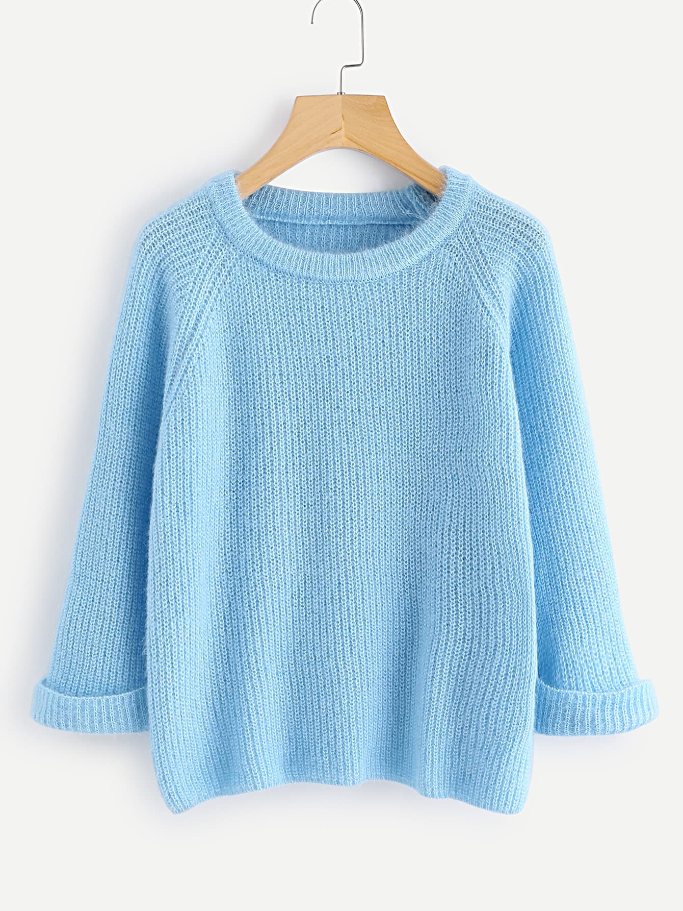 Cuffed Raglan Sleeve Sweater thumbnail