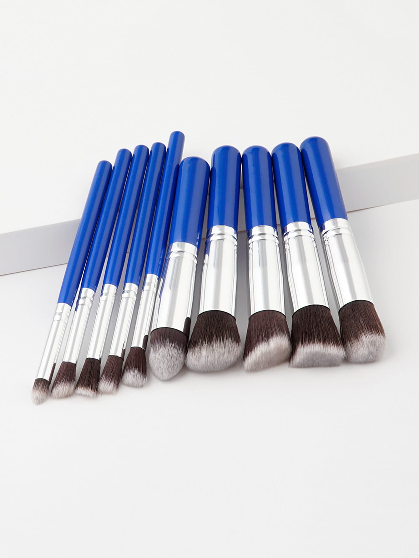 Two Tone Handle Makeup Brush Set 10pcs