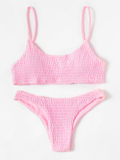 Shirred Bikini Set