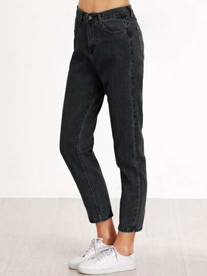 High Waist Crop Loose Jeans