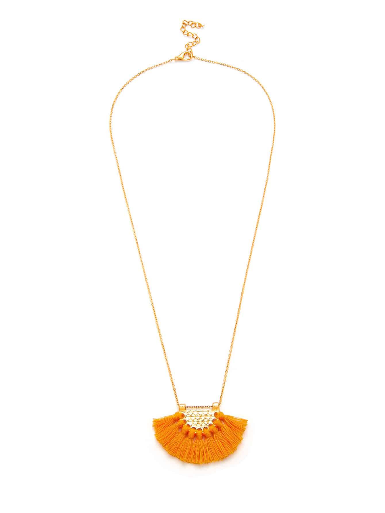Tassel Pendant Chain Necklace