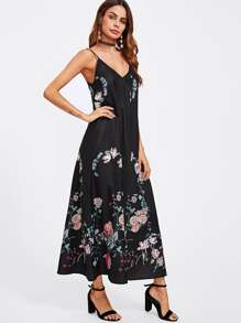 Botanical Print Swing Cami Dress