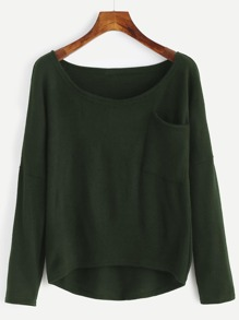 Drop Shoulder High Low Knitwear