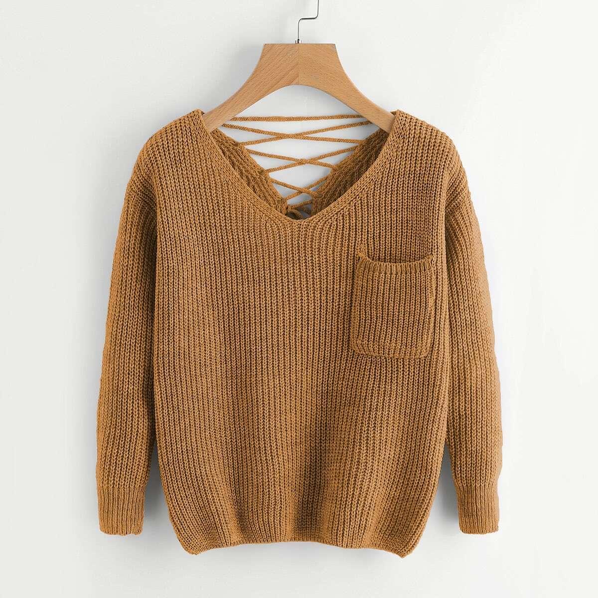 Knitwear met borstzakje