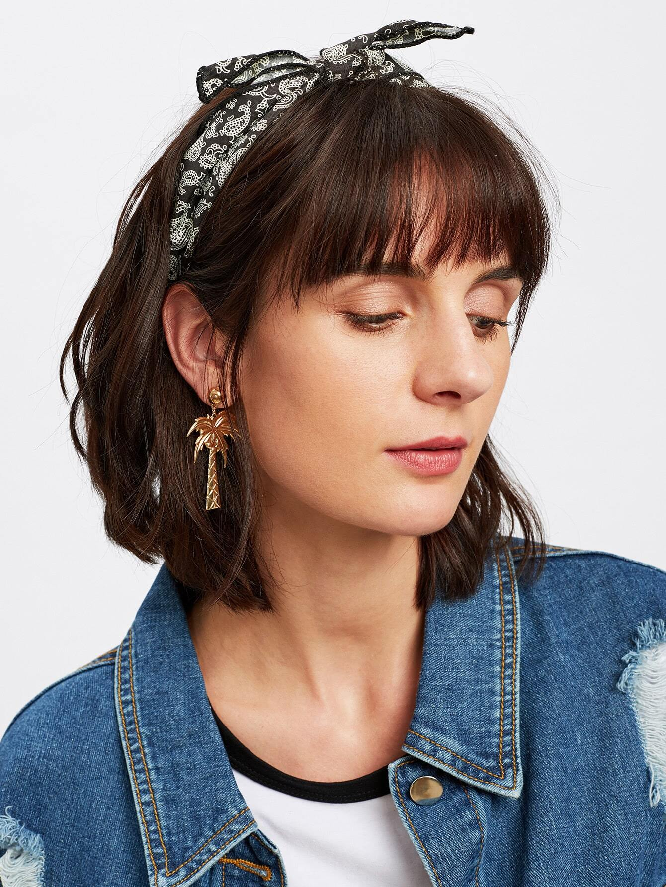 Paisley Print Tie Headband