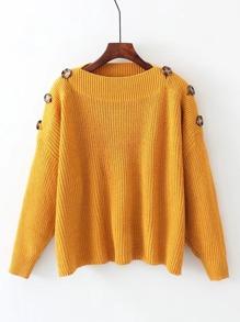 Maglione con spalle con bottoni