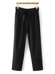 Tie Waist Tailored Pants