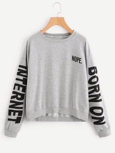 Sweat-shirt imprimé alphabet