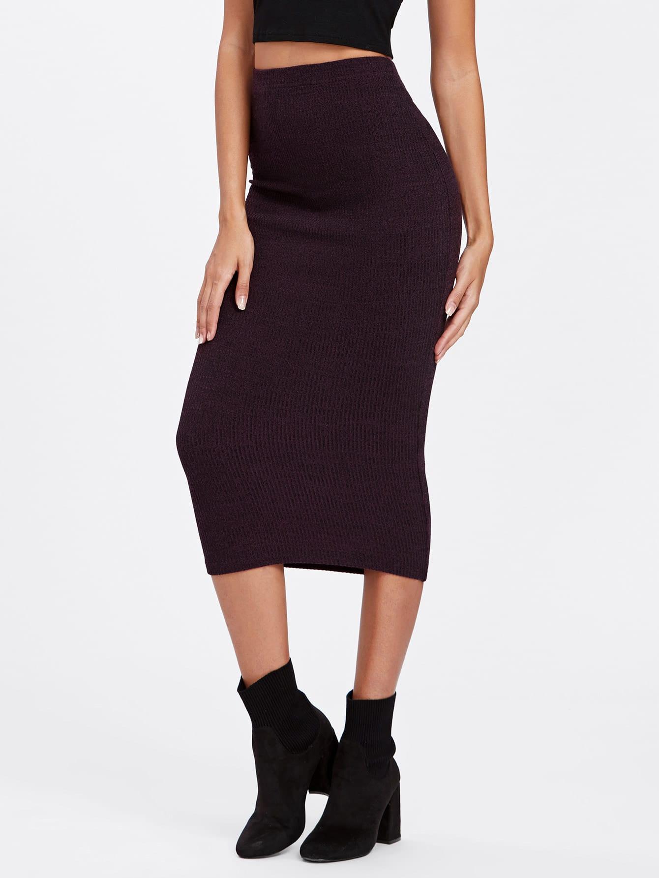 Купить Модная вязаная юбка-карандаш, Giulia, SheIn