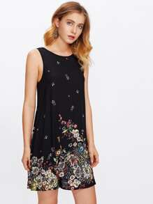 Botanical Print Tank Dress