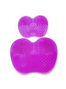 Apple Shaped Makeup Brush Cleaner 2pcs