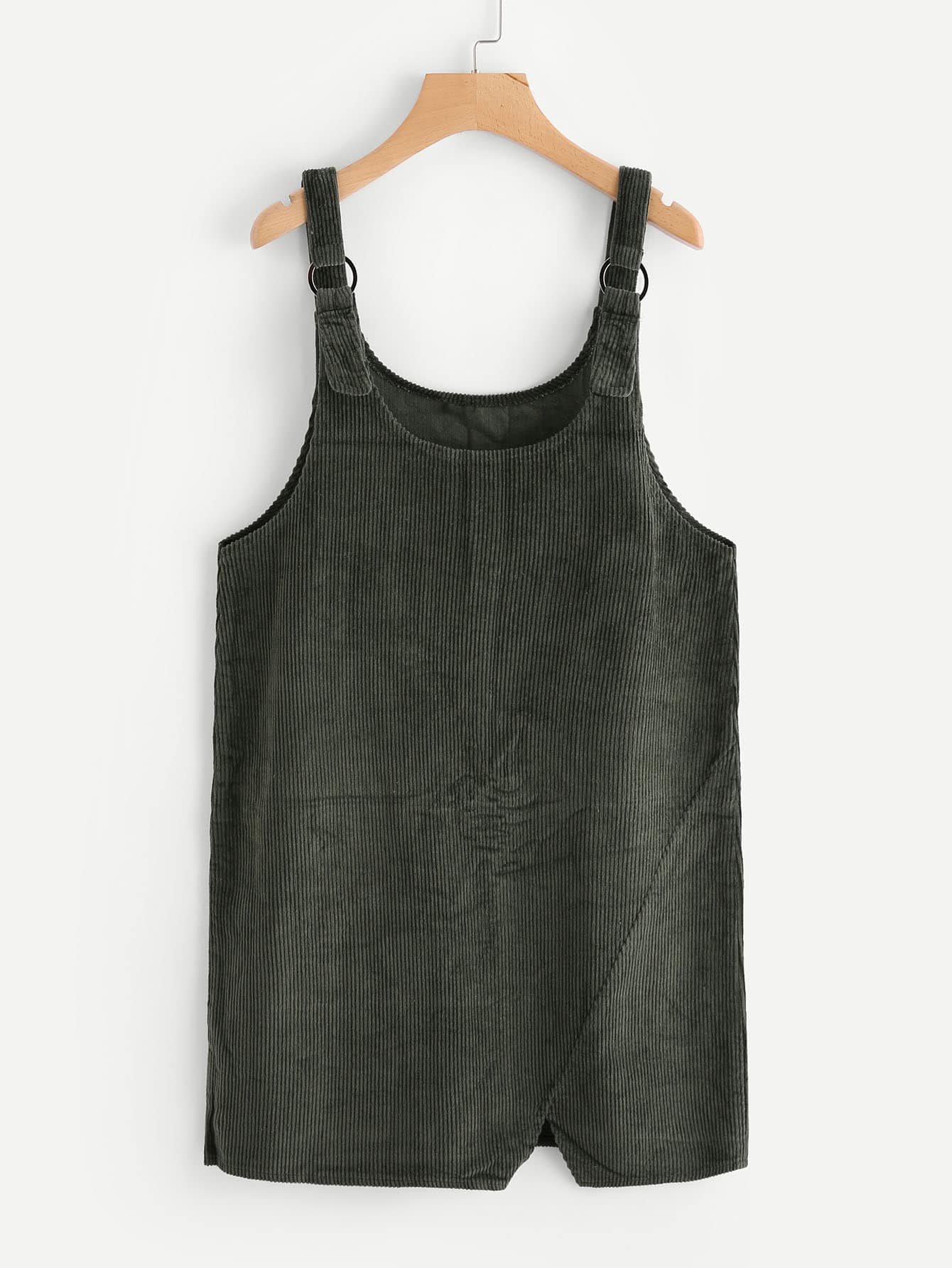 Cut Out Hem Ribbed Overall