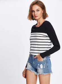 Two Tone Striped Tee