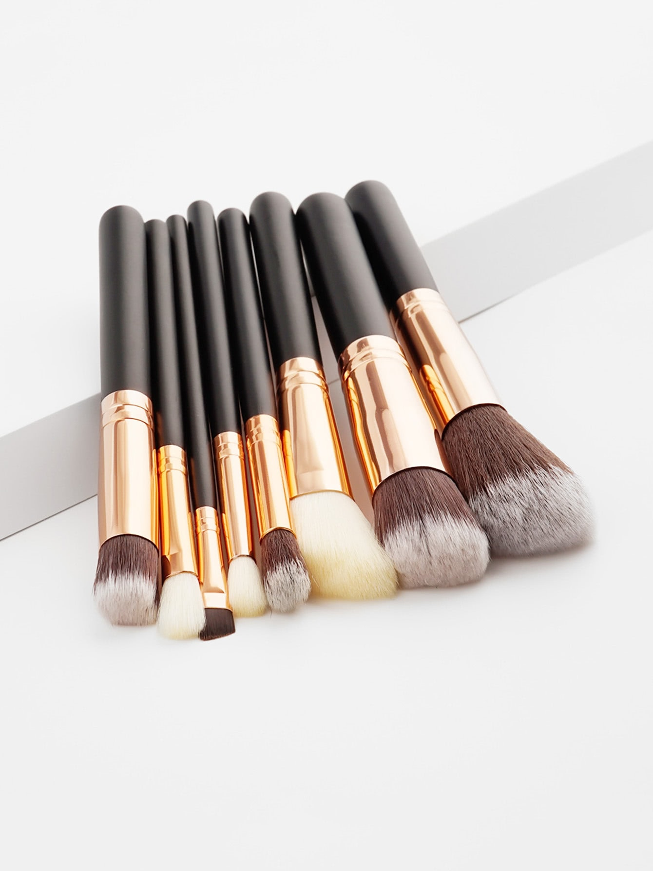 Soft Bristle Makeup Brush Set 8pcs -SheIn(Sheinside