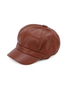 Gorra elástica de cuero sintético