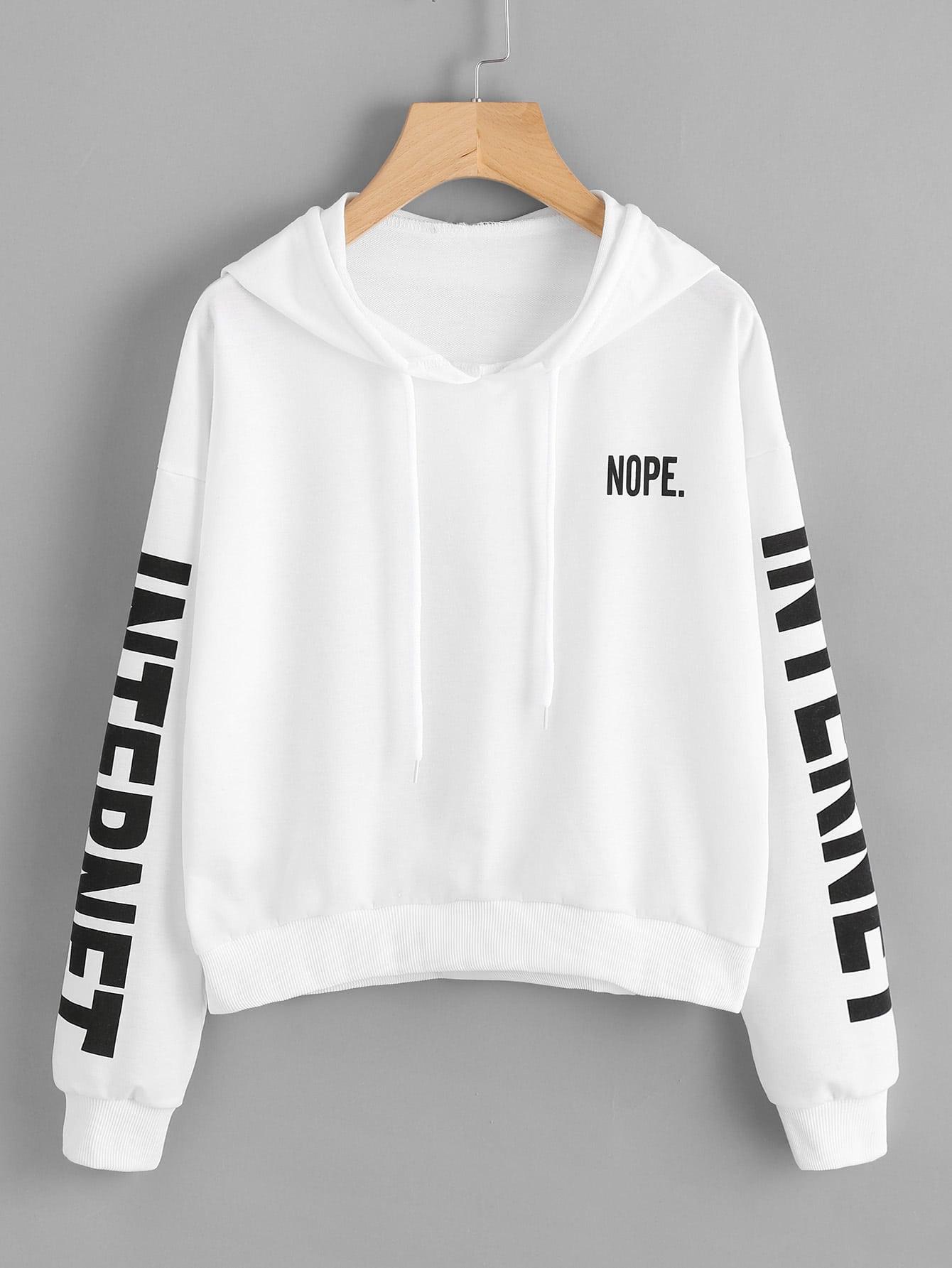 Letter Print Hoodie letter print raglan hoodie