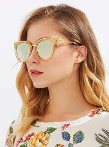 Rhinestone Detail Cat Eye Sunglasses