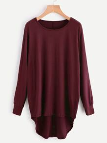 High Low Oversized Batwing Tee