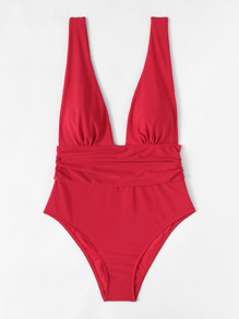 High Waist Plunge Swimsuit
