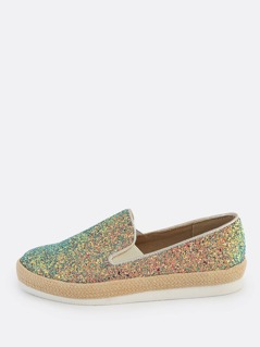 Glitter Slip On Sneakers BLUE