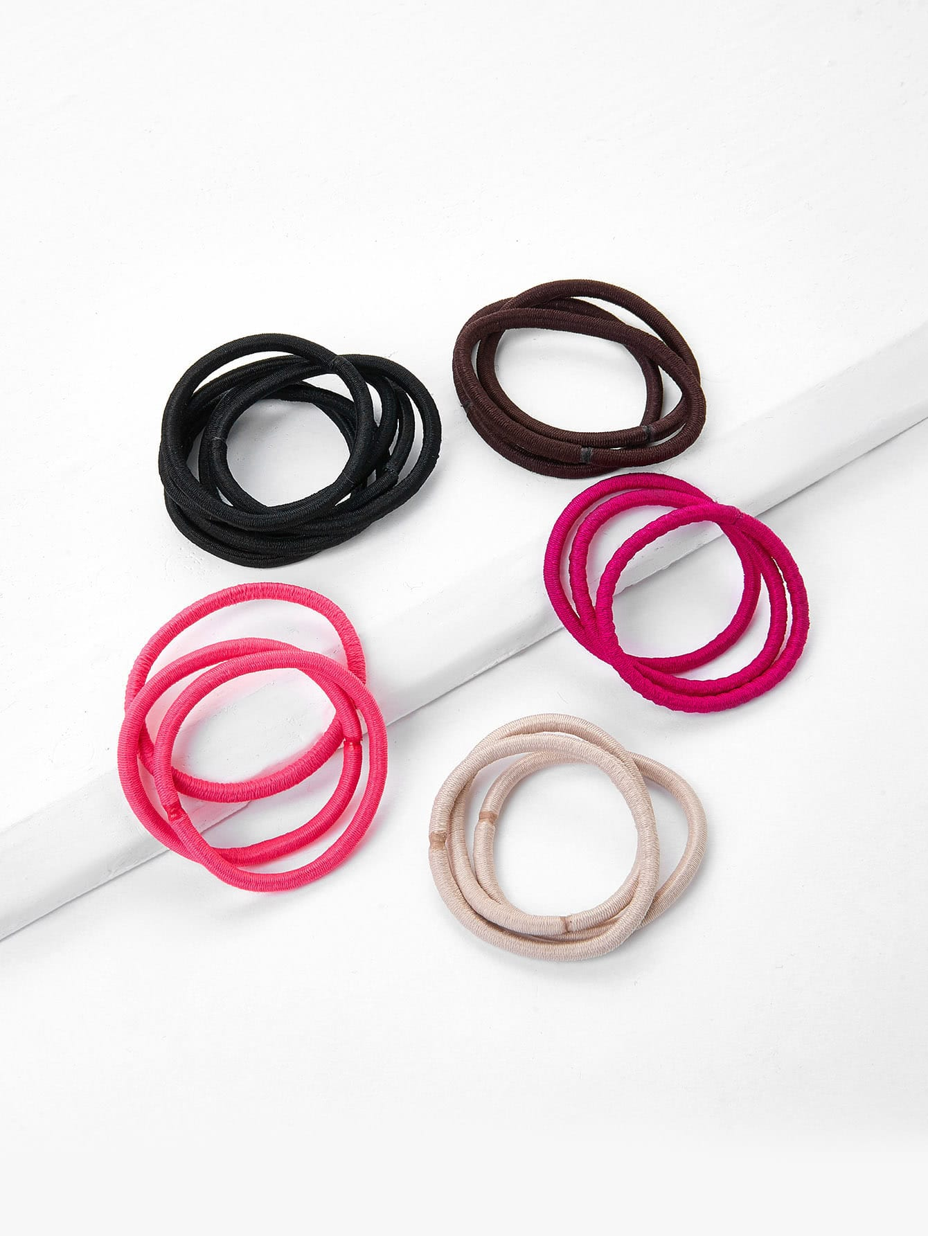 Image of 5 Color Hair Tie Set 18pcs