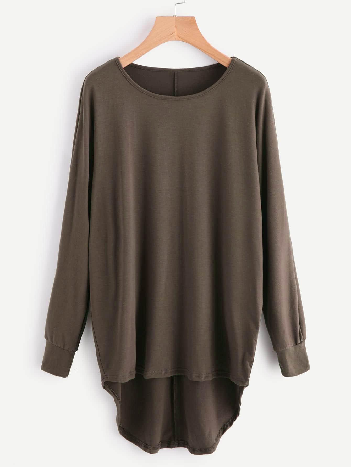 Asymmetrisches übergroßes Sweatshirt