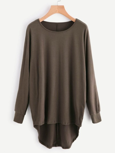 High Low Oversized Batwing Top