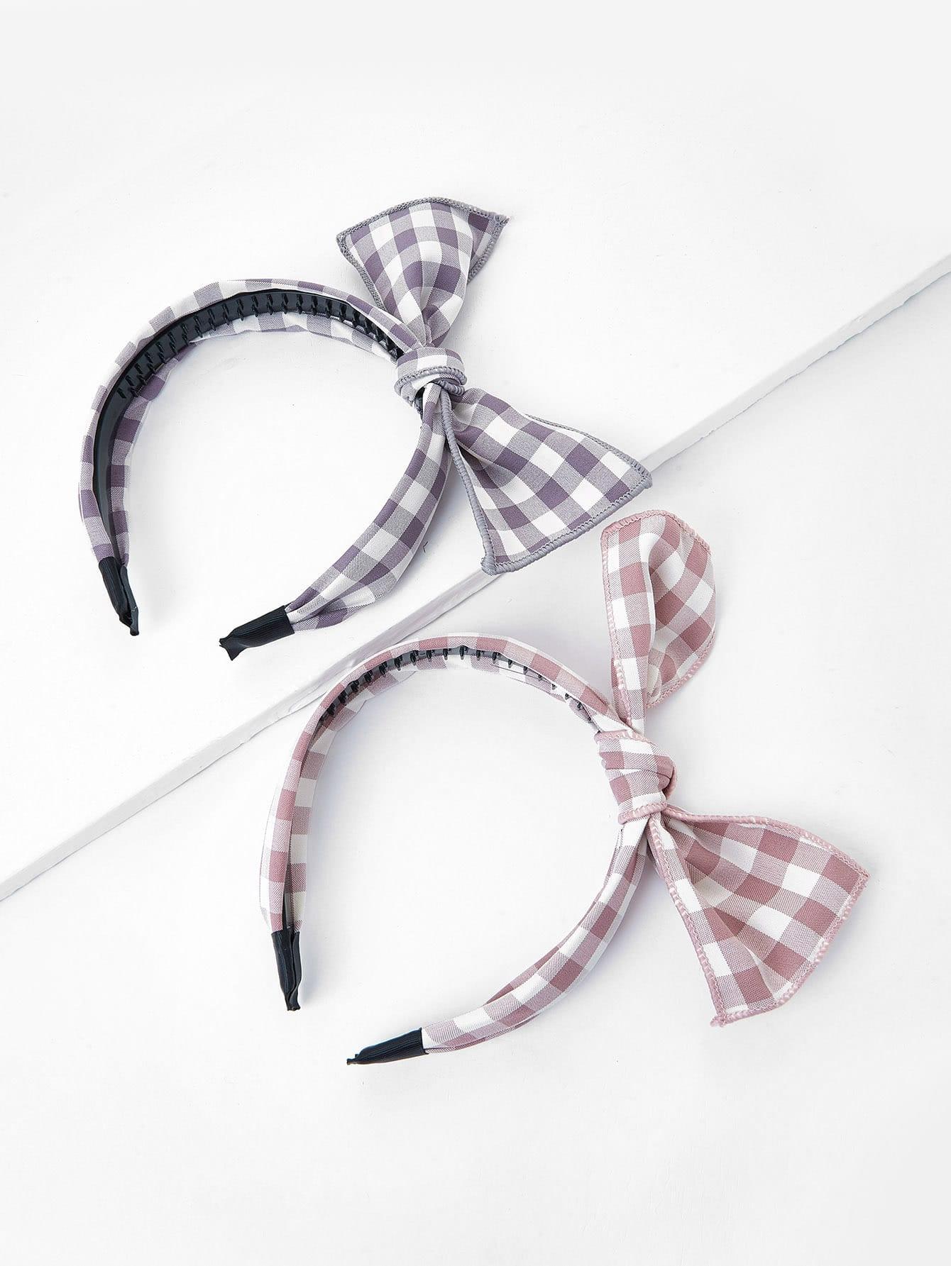 Bow Tie Headband 2pcs stretchy ruffled garter 2pcs with bow tie